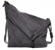 Coofit Unisex Canvas Bag Retro Shoulder Bag College Style Messenger Bag