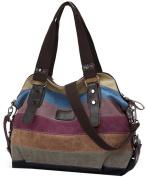 Coofit Canvas Handbag Shoulder Bag Handbags Purse for Women
