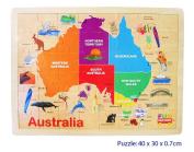 Fun Factory Australia Map Wooden Jigsaw Puzzle