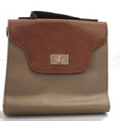 Dark &LightBrown ladies handbag