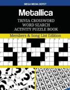 Metallica Trivia Crossword Word Search Activity Puzzle Book