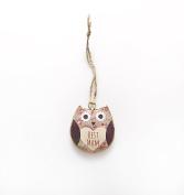 "Shabby Chic Owl ""Best Mum"" Hanging Decoration"