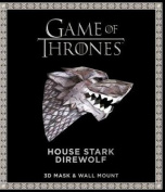 Game of Thrones Mask and Wall Mount - House Stark Wolf