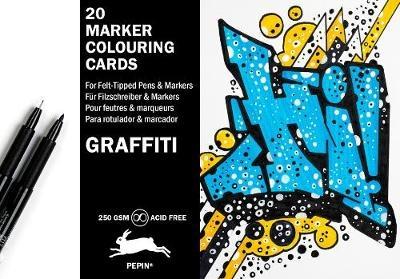 Graffiti Style: Marker Colouring Cards Book
