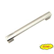 Handlemax 15cm Bi-colour Chrome/satin Nickel Kitchen Cabinet Dresser Drawer Handle