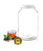 Pakkon 3.8l Wide Mouth Glass Jar With Plastic Lid / Ferment & Store