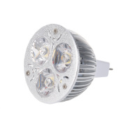 3w 12-24v Mr16 Warm White 3 Led Light Spotlight Lamp Bulb Only B8u5