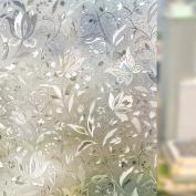 Rabbitgoo 3D Window Films Privacy Film Static Decorative Film Non-Adhesive Heat Control Anti UV 17.7In. By 78.7In.