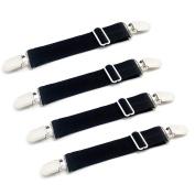 Adjustable Bed Sheet Corner Holders Elastic Grippers Suspenders Holder Straps