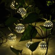 Globe Solar Power String Lights For Outdoor Garden Party Wedding Waterproof