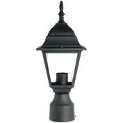 Sunlite Odi1150 38cm Decorative Light Post Outdoor Fixture, Black Finish With