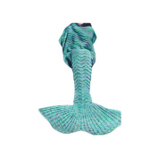 Kpblis All Seasons Latest Soft Mermaid Blanket Tail for Kids and Adults 180cm - 90cm