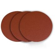 Powertec 110383 30cm Psa 60 Grit Aluminium Oxide Sanding Disc, Self Stick