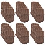 Leegoal 24pcs Polyester Furniture Socks/ Chair Leg Floor Protectorcoffe