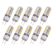 Rayhoo 10pcs G4 Base 24 Led Light Bulb Lamp 1.5 Watt Dc 12v Warm White To 10w T3