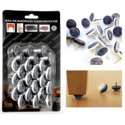 24 Pc Nail-on Furniture Protection Felt Pads Hardwood Floor Scratch Protector !