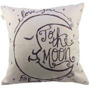 Hosl I Love You To The Moon And Back Square Decorative Throw Pillow Case New