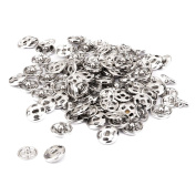Sew On Snaps Fasteners Button Poppers 10mm Pack Of Approx. 50 Sets Silver Lw