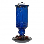 Perky-pet 8117-2 Cobalt Blue Antique Bottle Hummingbird Feeder, 470ml , New,
