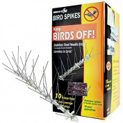 Bird-x Stainless Steel Bird Spikes Kit, Covers 3m New