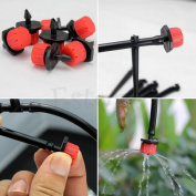 50pcs Micro Flow Dripper Drip Head 0.6cm Hose Garden Irrigation Misting