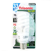 Daylight Light Bulb Cfl 33 W 75 Watt White Compact Fluorescent Spiral Base New