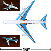 A380 Big Pull Cord Commercial Aeroplane Plane Assemble Friction Wind Up Toy