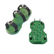 Aleko Ap214 Lawn Garden Sharp Aerating Spike Shoes, Green Colour