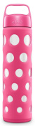 Ello Pure Bpa-free Glass Water Bottle With Lid, Pink Fizz, 590ml