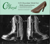 Cybrtrayd K075ab 3d Cowboy Boot Chocolate Candy Mould Bundle With 2 Moulds And