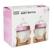 Comotomo Natural Feel 150ml Bottle, 4 Pack - Pink
