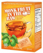 In The Raw - Monk Fruit In The Raw Natural Sweetener - 40 Packet
