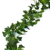 Aketek 23m - 12 English Ivy Silk Greenery Wedding Party Garlands
