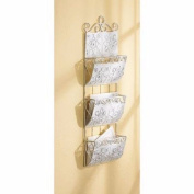 Classic White Letter Mail Organiser Hanging Wall Storage Rack Home Decor New