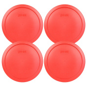 Pyrex 7402-pc Red Round Storage Replacement Lid Cover Fits 6 & 7 Cup 18cm D... New