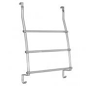 Interdesign Classico Over The Shower Door Towel Rack, New,  .