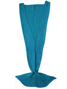 Kpblis Warm and Soft Mermaid Tail Blanket diffenrent Colours Mermaid Blanket for Kids and Adult 180cm - 90cm