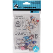 Art Impressions People Clear Rubber Stamps 10cm x 15cm -aged To Perfection