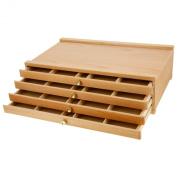 Us Art Supply Artist Wood Pastel Pen Marker Storage Box With Drawer(s) (4-dra...