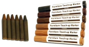 12pc ALAZCO Total Furniture Scratch Restore & Repair System & Touch-Up Kit - 6 Wax Stick Crayons & 6 Felt Tip Markers