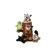 Plush Treehouse With Animals Five 5 Stuffed Forest Animals