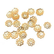 500pcs 6mm Gold Tone Flower Be Caps For Jewellery Making Dt