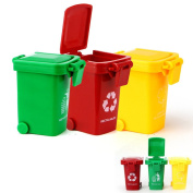 Aiting Kids Push Toy Vehicles Garbage Truck's Trash Cans