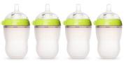 Comotomo Natural Feel Baby Bottle, 4 Pack Green, 240ml