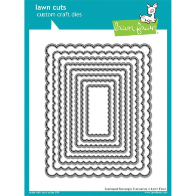 Lawn Fawn - Lawn Cuts Dies - Scalloped Rectangle Stackables Lf997