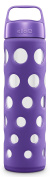 Ello Pure Glass Water Bottle With Silicone Sleeve, Grape Fizz, 590ml New