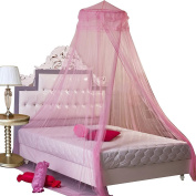 Gybest Round Lace Curtain Dome Bed Canopy Netting Princess Mosquito Net