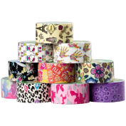 10 Rolls Printed Duck Brand Duct Tape Patterns Art Crafts Diy 100yds Wallet
