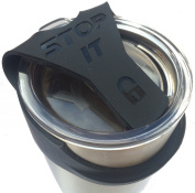 Black STOP IT - No Spill (fits 890ml YETI) - . a Leak or Spill Proof Lid