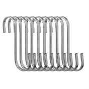 Honbay® 10 Pcs Stainless Steel S Hooks Kitchen Cooking Utensils Spoon Pan Pot